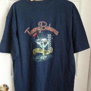 Tommy Bahama T-Shirt L NWT Navy Blue Mens Martini